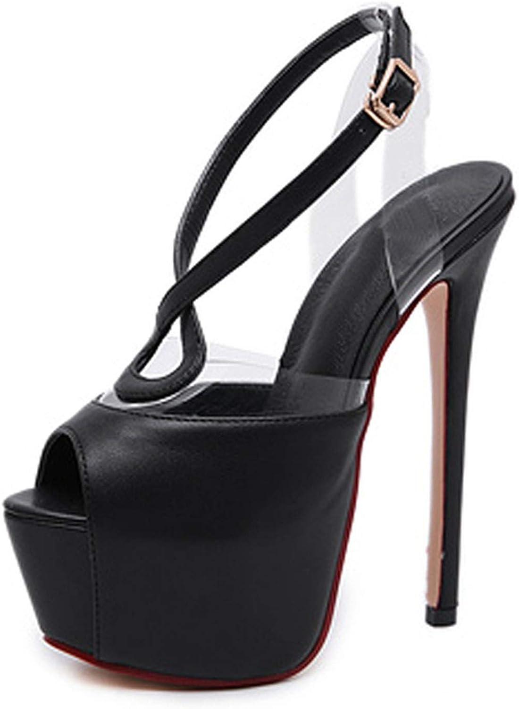 HuangKang Gladiator Platform Sexy High Heel Buckle Strap Peep Toe Party Wedding Ladies shoes Fashion Summer Sandals