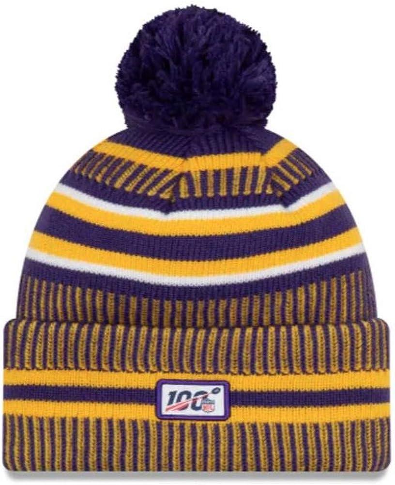 New Era ONF19 Sport Knit M/ütze Minnesota Vikings Lila Gelb