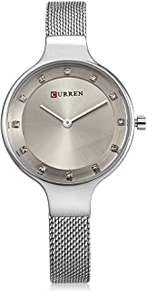 Curren 9008 Quartz Movement Round Dial Stainless Steel Strap Waterproof Women Wristwatch - Gold