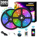 WiFi LED Strip Lights 32.8ft, Voice Control Work with Alexa Echo Google Assistant, Smart...