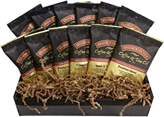 Door County Coffee Best Sellers, Flavored & Non-flavored coffee Variety,12-Pack Gift Set