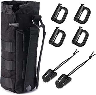 R.SASR Upgraded Tactical Drawstring Molle Water Bottle Holder Tactical Pouches