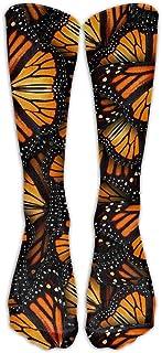 N / A, Montones de calcetines Monarch Butterflies Crew Crazy Socks Tube Calcetines altos Novedad Divertida Luz delgada para adolescentes Niños Niñas 50 cm / 19.7 pulgadas