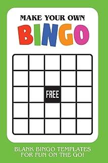 Make Your Own Bingo: Blank Bingo Templates For Fun On The Go - Green