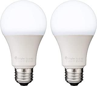 【+Style ORIGINAL】スマートLED電球 E26 (調光・調色) 2個セット 昼白色 電球色 LED電球 60W 810lm スマート 調光 調色 ハブ ブリッジ不要 日本メーカー製 Amazon Alexa/Google Home 対応