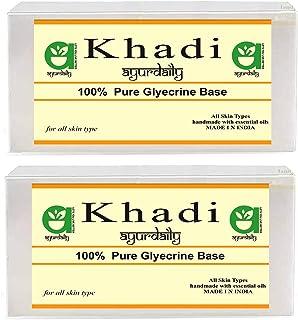 Ayurdaily Khadi Transparent Ultra Clear Glycerin Pour & Melt Soap Base 500 gm (Pack of 2)