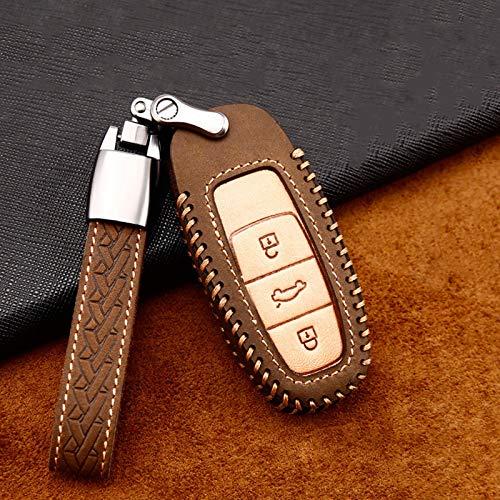BHYUDYT Car Key Cover Case With Keyring ,For Audi Q8 C8 A6 A7 A8 2018 2019