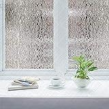 Efecto lluvia película para ventana decorativa vinilo decorativo película autoadhesiva control térmico película para ventana cubierta de ventana opaca película de vidrio para el hogar A110 45x200cm