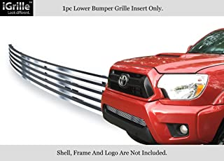 APS Compatible with 2012-2015 Toyota Tacoma Bumper Stainless Steel Billet Grille Grill Insert S18-C83966T