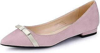 Allegra K Women's Pointed Toe Slip on Ballet Flat Shoes