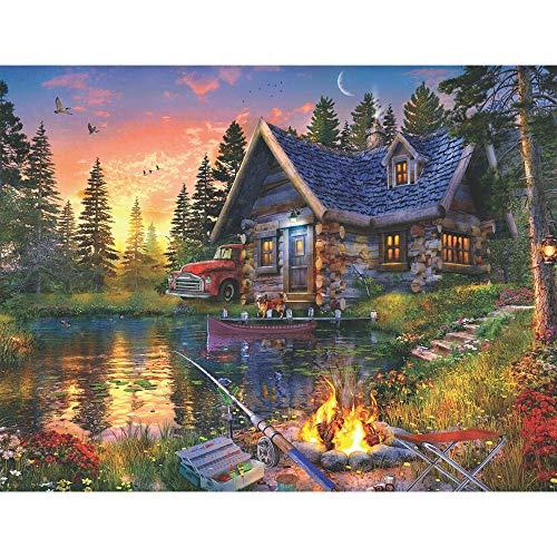 Springbok's 500 Piece Jigsaw Puzzle Sun Kissed Cabin