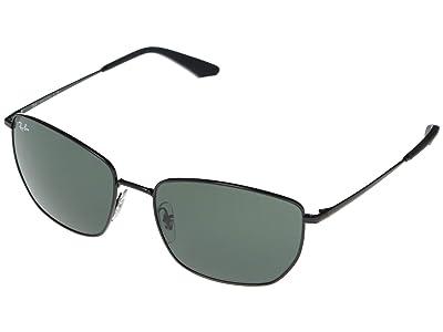 Ray-Ban RB3653 Square Metal Sunglasses 60 mm