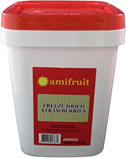 Amifruit Freeze Dried Sliced Strawberries 1.25 Lbs