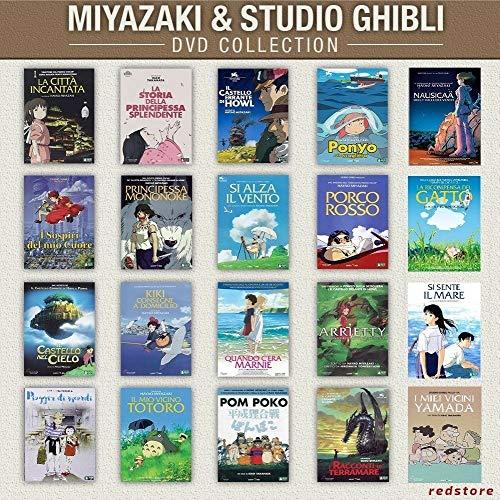 COLLEZIONE STUDIO GHIBLI: Miyazaki +Takahata+Morita+Yonebayashi+Mochizuki (20 film) DVD singoli, italiani
