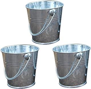 3x da. WA macetas Vintage Metal barriles para colgar cubos jardín balcón decoración