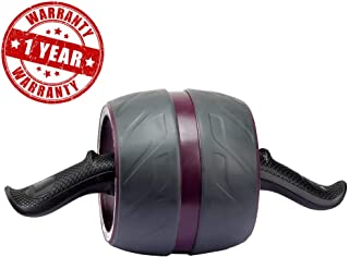 Portzon Ab Roller Wheel,Carbon Steel Automatic Spring Back for Abs Abdominal Core Equipment,Purple, 1 Pack