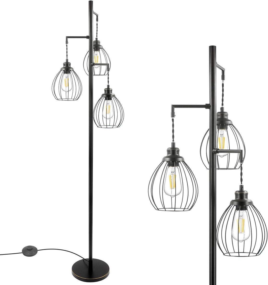 Industrial Floor Lamp Standing Tree He Cage 3 Elegant Sale SALE% OFF Ranking TOP4 with