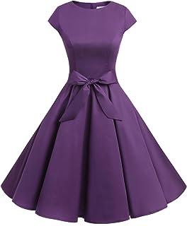 f6cae82d1014 Dressystar Women Vintage 1950s Retro Rockabilly Prom Dresses Cap-Sleeve
