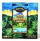 Gold Coffee Company Blue Mountain Blend kcups 18 count Single Serve Coffee Cups