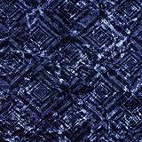Fabulous Fabrics Pannesamt Rautenmuster – blau —