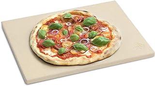 BURNHARD Pierre à Pizza rectangulaire en cordiérite, pour la préparation du Pain, de la Tarte flambée et de la Pizza, Pier...