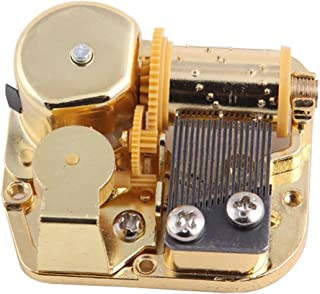 Helen Zora 18 Note Windup Gold Plating Clockwork Mechanism DIY Music Box Movement (Memory)