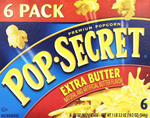 Why Should You Buy Pop Secret Extra Butter Flavor, Microwaveable, 6-Count, 21-Ounce Box (Pack of 4)
