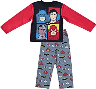 Justice League DC Comics Boys Pajamas - 2-Piece Long Sleeve Pajama Set