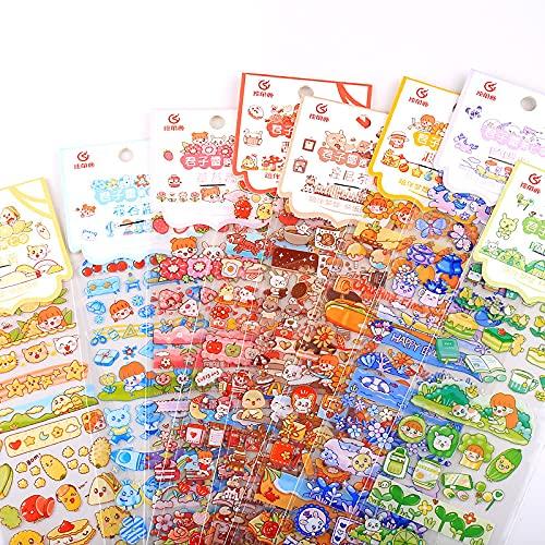 JZLMF Etiqueta engomada de Tira Larga Estilo Ins Coreano Dibujos Animados creativos niña Caballero // Ray DIY y Papel Etiqueta de decoración de Cuenta de Mano