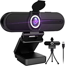 4K Webcam with Microphone,8 Megapixel Web Cam,Ultra HD Web Camera for Computers,Webcam for Laptop Desktop,USB Webcam with ...