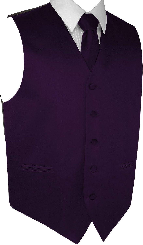 Best Tuxedo Men's Formal Tuxedo Vest, Tie & Pocket Square Set-Lapis-5XL