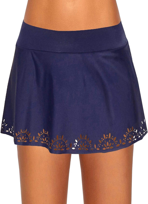 Urchics Womens High Waist Swimsuit Bottom Plus Size Swim Skirts with Panty