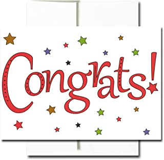 Congratulations Cards: Starry Congrats - Boxed 30 Blank Note Cards Made in USA + 32 Env by CroninCards