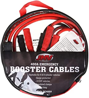 JMV 400amp Booster Cable/Jumper Leads 2.5M c/w Fully Insulated Alligator Clips