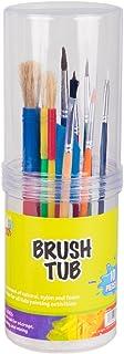 Pro Art Brush Tub, Assorted Multi-Colour, 26.16 x 9.65 x 9.14 cm