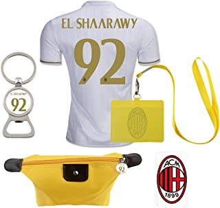 #92 El Shaarawy (6 in 1 Combo) A.C. Milan Away Match Adult Soccer Jersey 2016-17