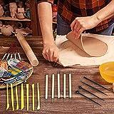 Mallalah - Herramienta de Modelado de Arcilla, 25 Piezas, Herramienta de Carving, Set para Silicona y cerámica, Accesorios, bolígrafo para Repujado, Modelado, Escultura y cerámica