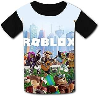 QIANBAIHUI Kids Youth R-ob-lox-World 3D Printed O-Neck T-Shirt Tees