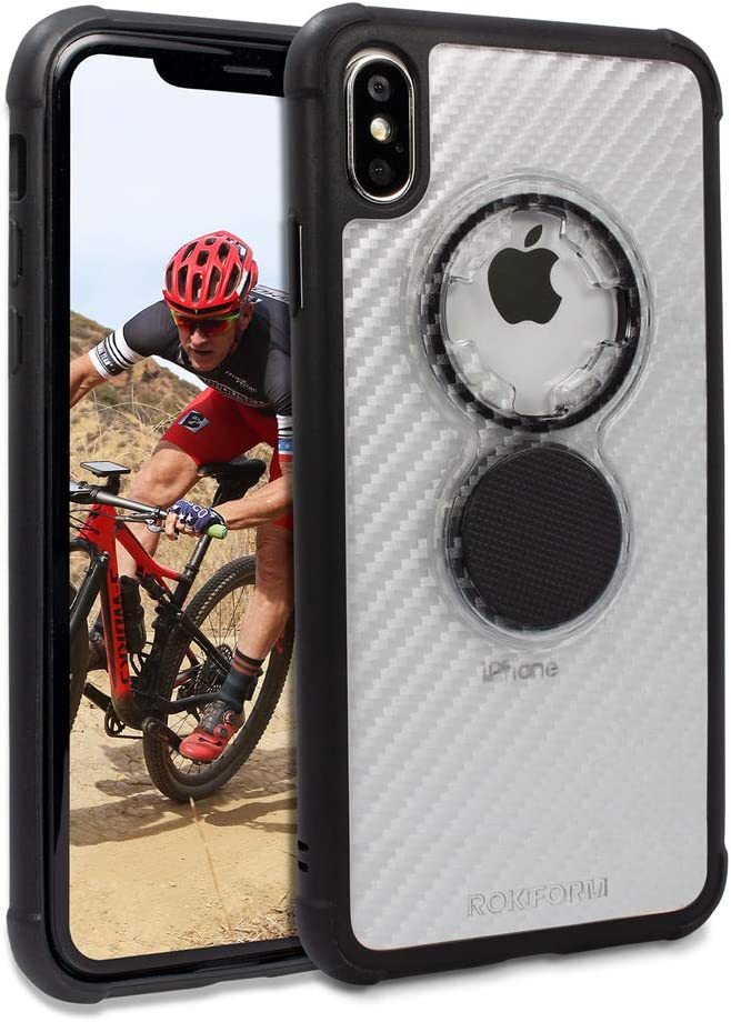 Rokform - iPhone XS Max Magnetic Case with Twist Lock, Crystal Slim Magnetic iPhone Case Series (Clear)