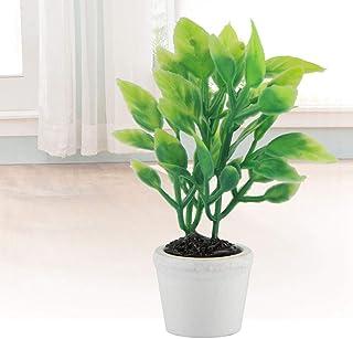 Okuyonic Plante Artificielle Verte Belle Fausse Plante en Pot réaliste pour Les Festivals pour Le Bureau