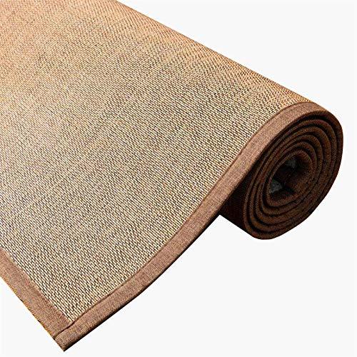 XZPENG Alfombra de la Alfombra de la Alfombra de la Alfombra, alfombras Antideslizantes de bambú de Estilo japonés con Borde para esteras, 2 Colores, tamaño Personalizado Moda, Creatividad, Comodidad
