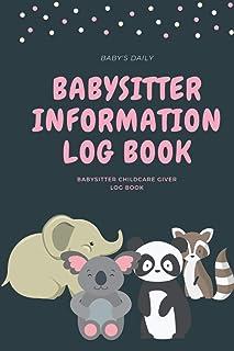 babysitter inforamtion notebook