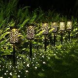 Solarleuchte Garten,OxyLED 6 Stück Solar Gartenleuchte IP44 Wasserdicht Stern und Mond Solar Gartendeko für Garten Patio Rasen,Terrasse,Warmweiß