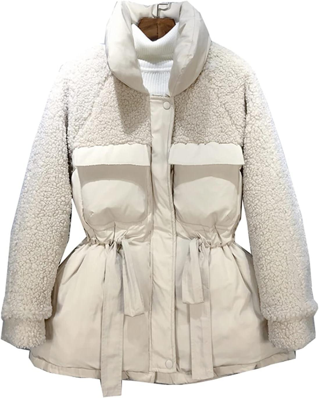DIAOD Solid Beige Autumn Winter Women Collar L Popular brand Warm Parkas Stand price