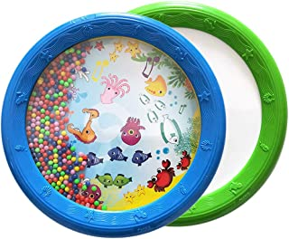 Sytaun 8inch Marine Animal Panourine Ocean Wave Beads Drum Musical Education Kids Toy Un Juguete Clásico para Mente Y Cuerpo Océano ^^
