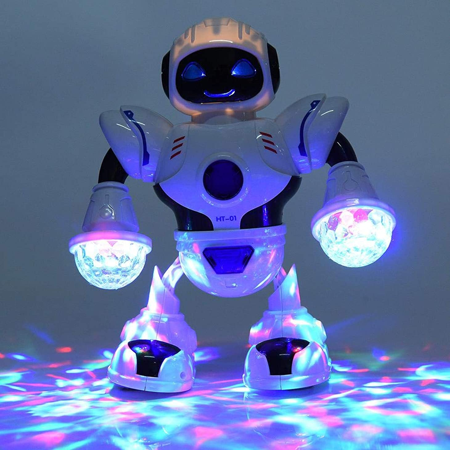 カート帝国記者ロボットおもちゃ 音楽 ダンス カラフルなLEDライト 電気ロボット玩具 教育玩具 誕生日 クリスマス プレゼント
