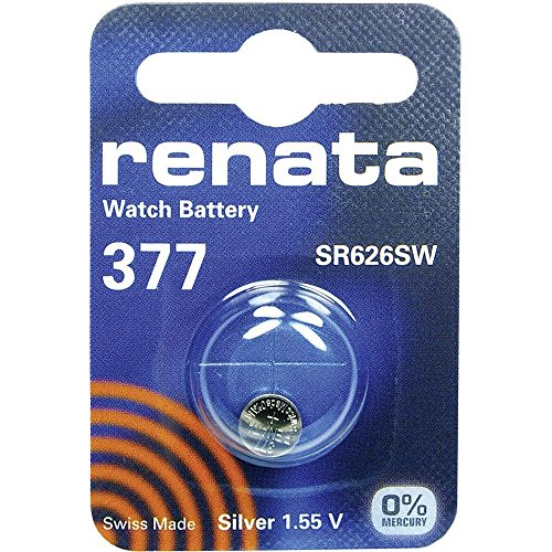 377 (SR626SW) Batteria Pulsante / Ossido D'argento 1.55V / per Orologi, Torce, Chiavi della Macchina, Calcolatrici, Macchine Fotografiche, etc / iCHOOSE