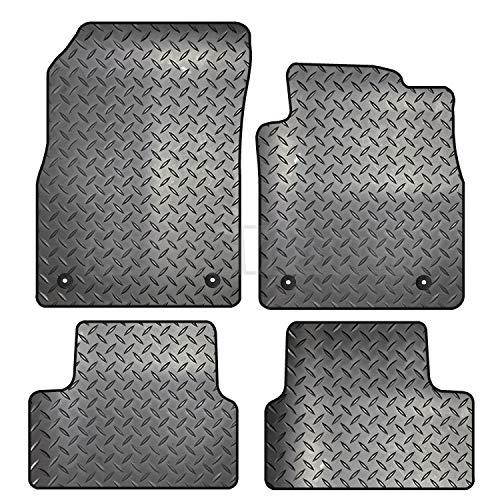 Carsio ZCUT-1305-(33 x 4) 4 Piezas de Alfombrillas de Goma a Medida – Vauxhall Astra J MK6 2010 a 2015, Color Negro