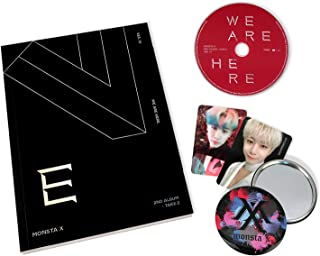 We Are Here - MONSTA X 2nd Album : TAKE.2 [ IV ver. ] CD + Photobook + Photocards + OFFICIAL POSTER + FREE GIFT / K-pop Sealed