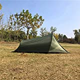MountainCattle 2 Person Backpack Camping Tent, Ultralight Backpacking Dome Tent, Green